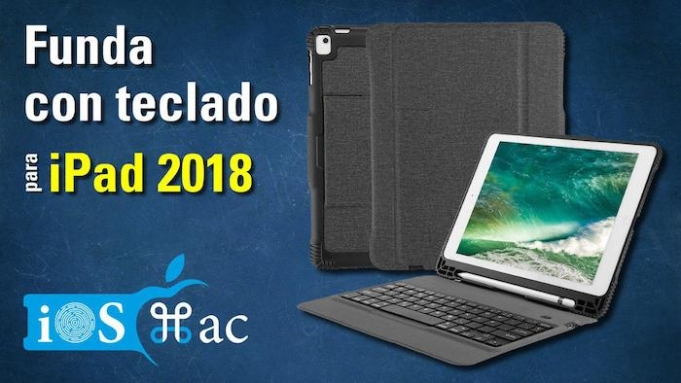 Funda con teclado para iPad 2018-youtube