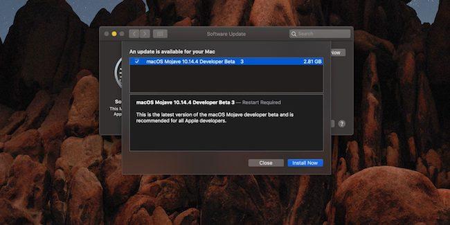 macOS 10.14.4 beta 3 para desarrolladores