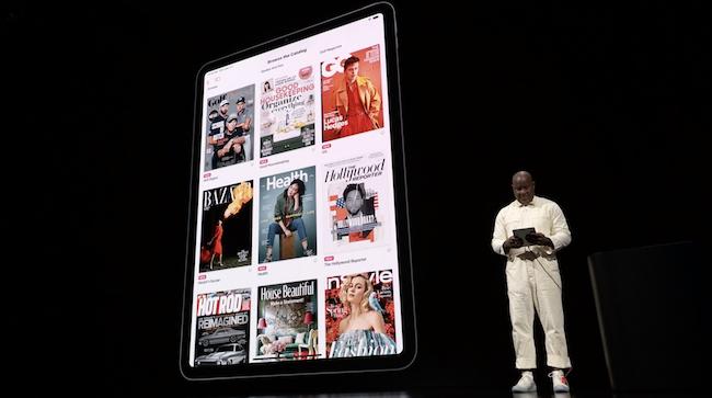 Apple News+ en un iPad