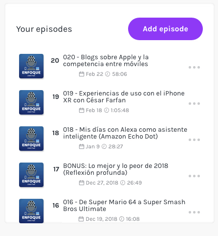 Episodios Anchor Podcast