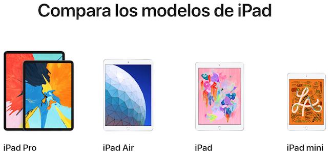 Modelos iPad