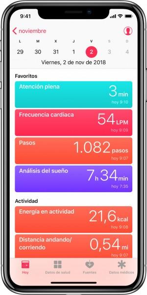 Salud en iPhone