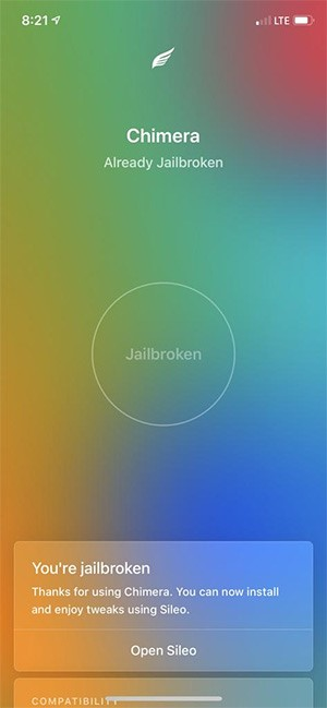 Chimera-2 ▷ Tutorial to complimentary iOS 12 with Jailbreak Chimera