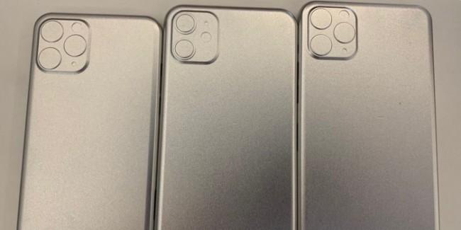 Los tres moldes de los iPhone 2019 muestran un diseño de cámara tipo cuadro