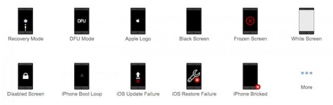 Problemas comunes TunesKit iOS System Recovery
