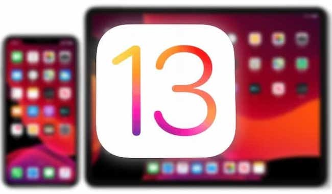 iOS 13 iPhone iPad