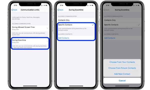 limites-configuracion-2 ▷ How to develop interaction limitations with Screen Time in iOS 13?