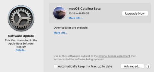 Actualizaciones de Software Catalina