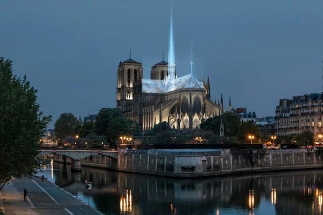 Diseño techo de cristal Notre Dame