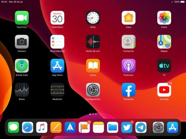 Vista amplia iPadOS