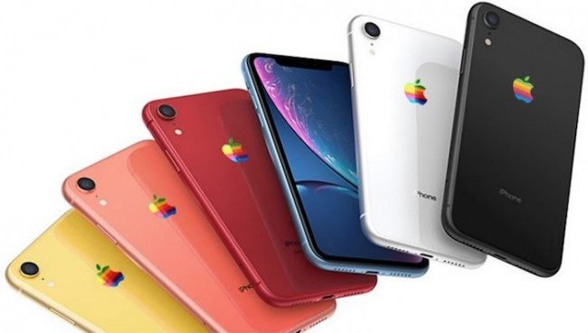 iPhone XR Logo arcoíris