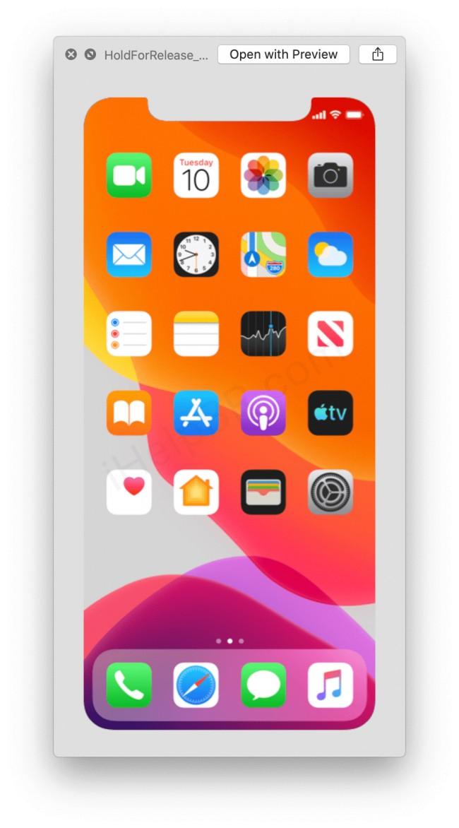 Captura de iOS 13
