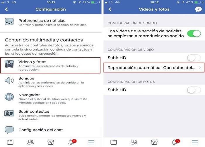 Contenido multimedia Facebook