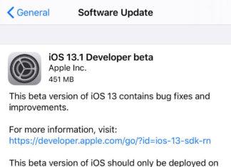 iOS 13.1 para desarrolladores