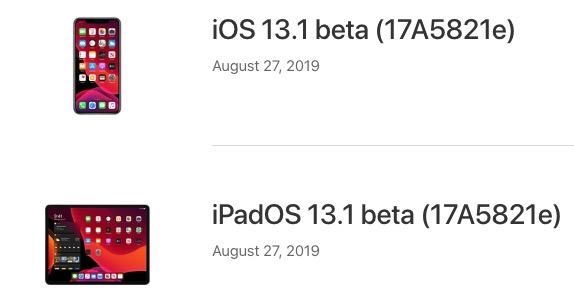 iOS 13.1 y iPadOS 13.1