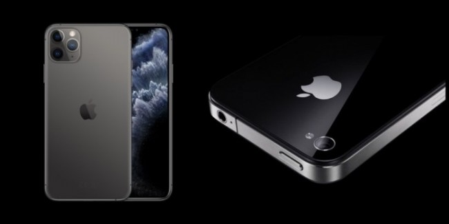 iPhone 11 Pro y iPhone 4
