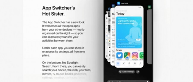 App Switcher iOS 14