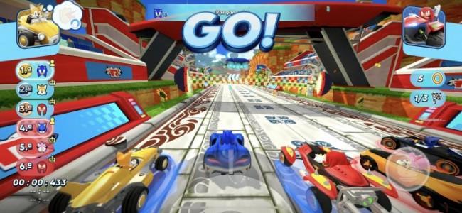 Inicio de carrera Sonic Racing
