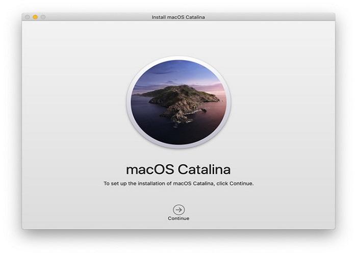 Salir del instalador de MacOS Catalina