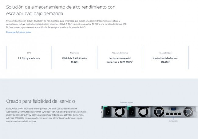 Synology lanza RackStation RS820-RS820RP