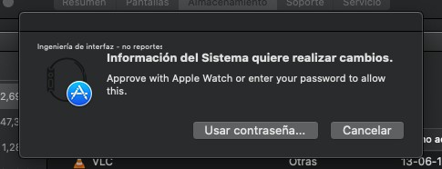 Realizar cambios Mac