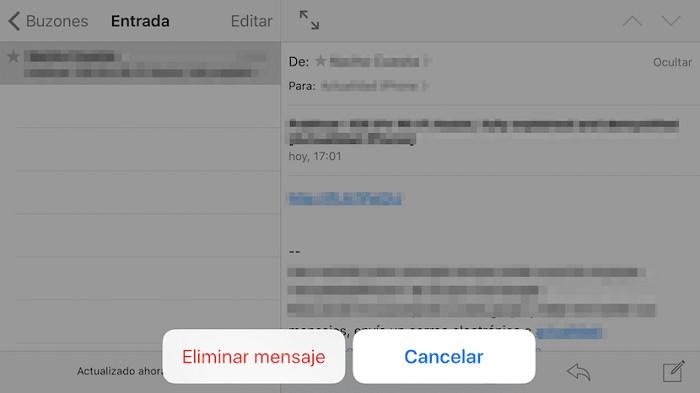 Eliminar mensaje