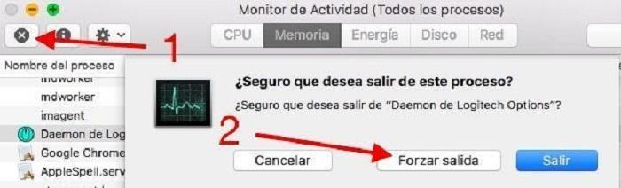 Forzar salida desde Monitor de Actividad