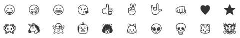 Emojis disponibles para el grabado de la caja de los AirPods