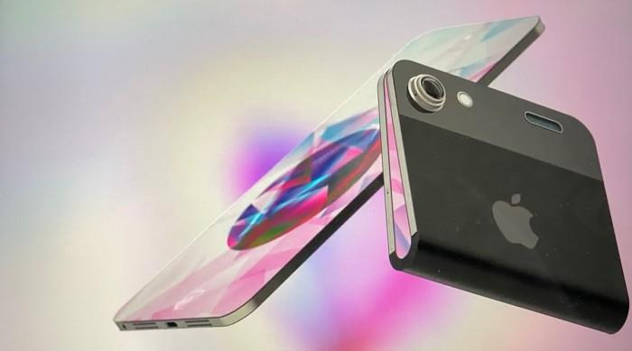 Nuevo concepto de como sería un iPhone plegable