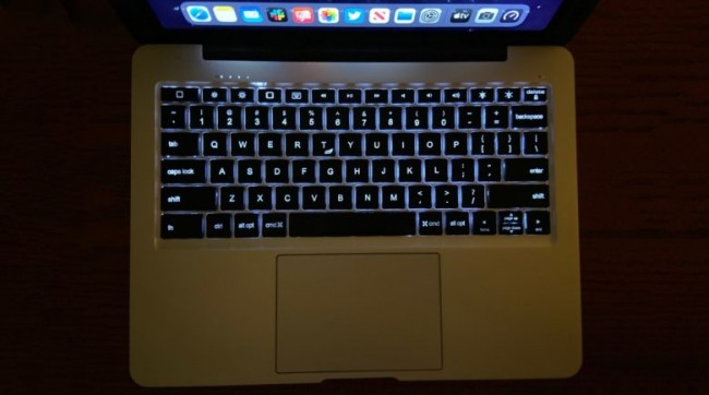 El teclado y el TrackPad de la funda Doqo