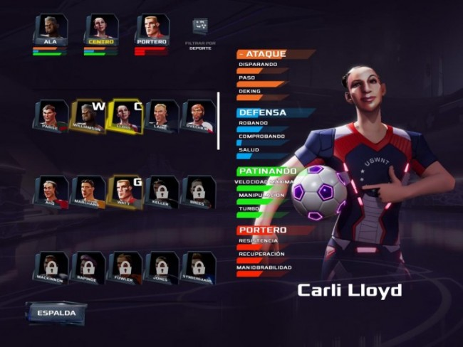 Personajes en Ultimate Rivals The Rink