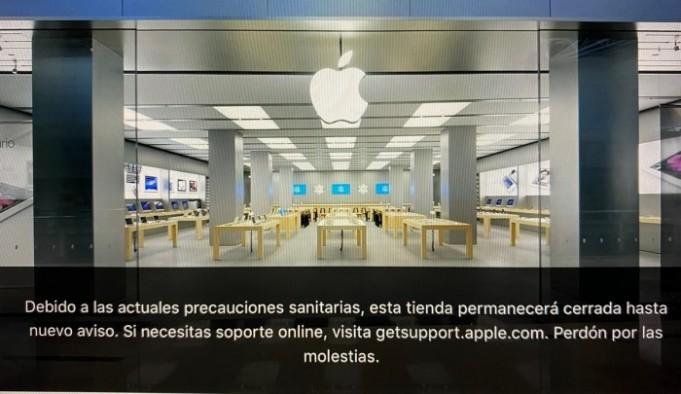 Cierre de todas las Apple Store