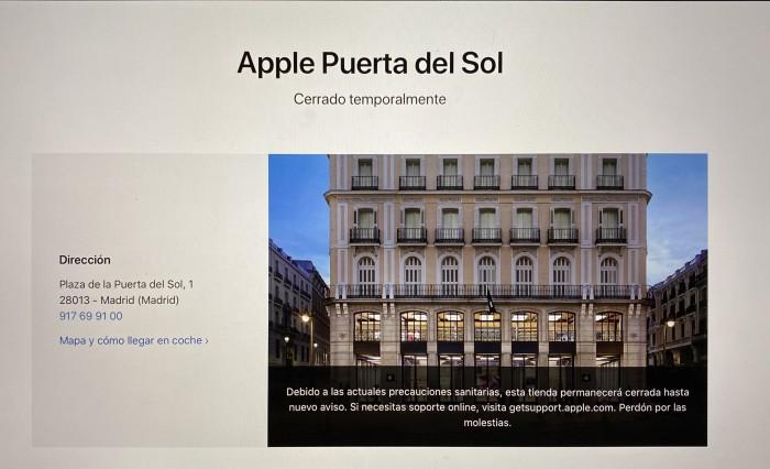 Apple Cierra todas las Apple Store