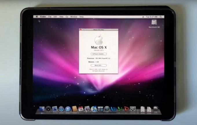 macOS Leopard en iPad Pro