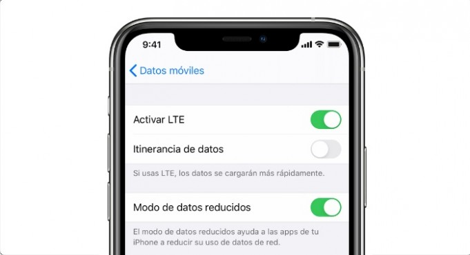 Datos reducidos iOS