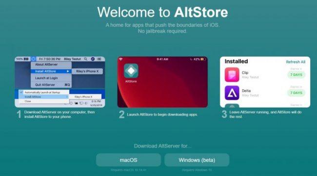 AltStore tienda aplicaciones