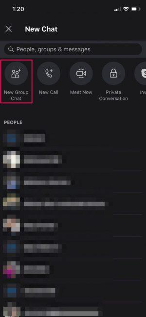 Nuevo chat grupal