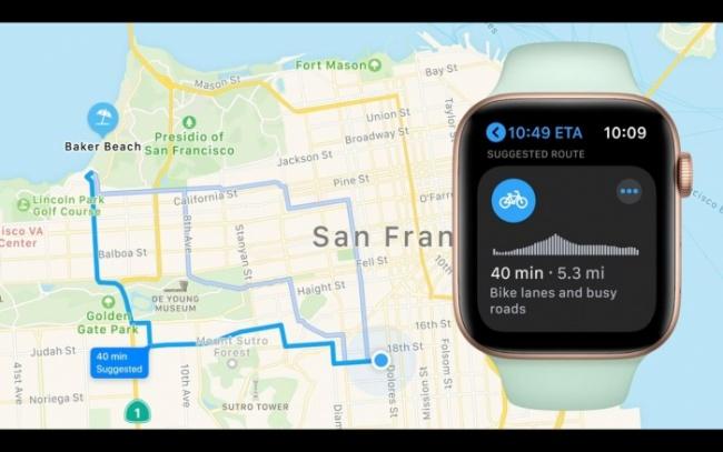 Mapas con mejoras en watchOS 7