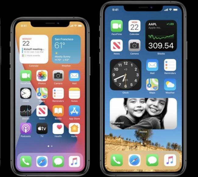 iOS 14 en dos iPhone