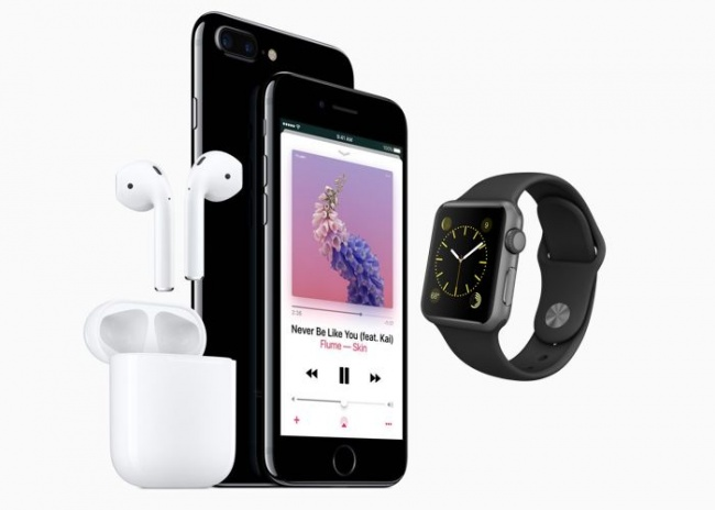 Productos Apple Watch, iPhone 7 Plus y AirPods 2016