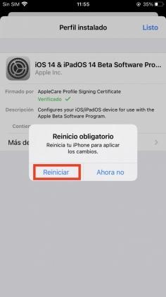 Reinicia el dispositivo iOS / iPadOS