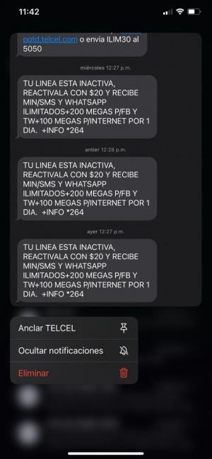Anclar mensajes en iOS 14