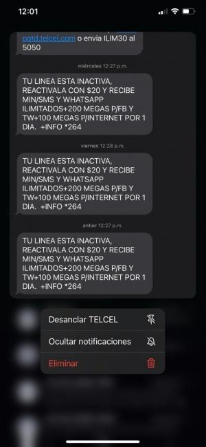 Desanclar mensajes en iOS 14