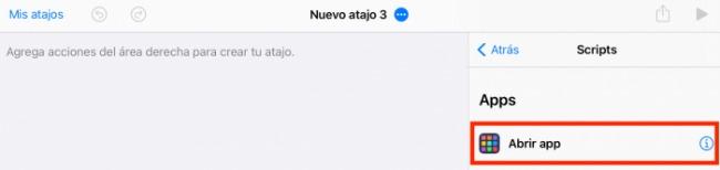Abrir app para personalizar los íconos de iOS