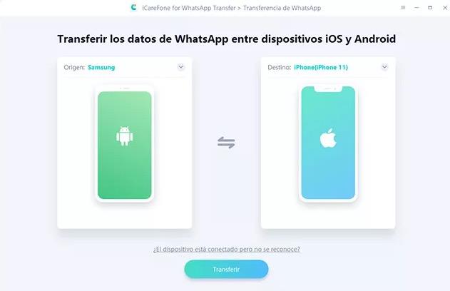 Migra mensajes de WhatsApp de iPhone a Android