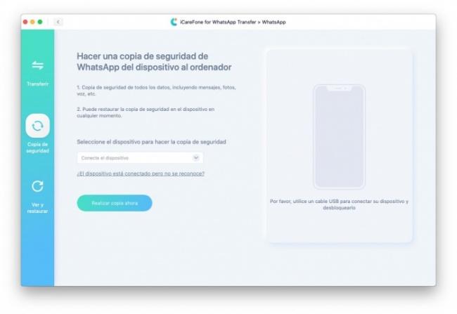 Respalda mensajes de WhatsApp en el ordenador
