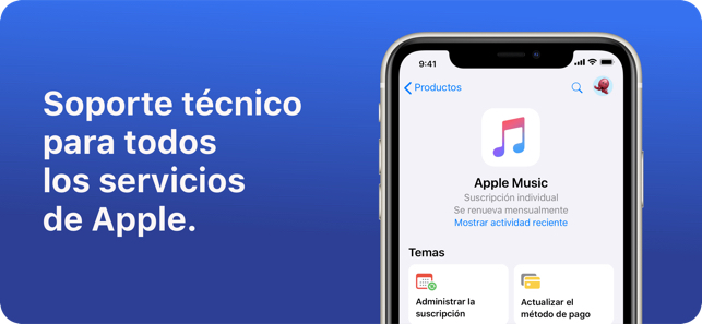 Soporte técnico Servicios de Apple