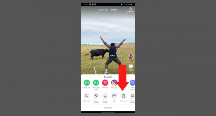 Crear una reacción en vídeo en TikTok