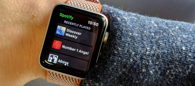 Spotify, transmisión directa en Apple Watch